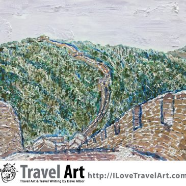 Travel Art: Mutianyu Section of the Great Wall During Winter, China