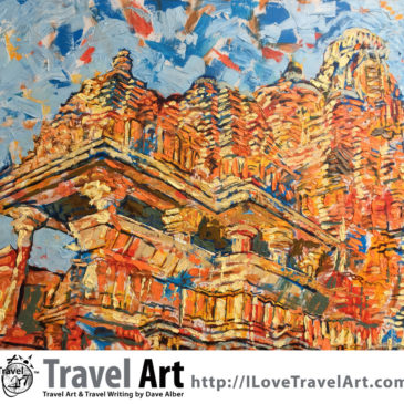 Travel Art: Khajuraho Temple, India