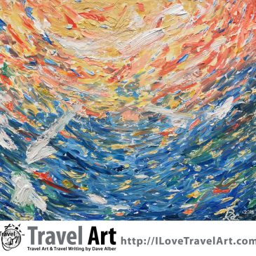 Travel Art: Underwater Sunlight: Legian Beach, Bali