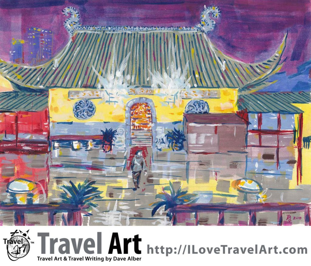 Travel Art, Dave Alber, travel, art, fine art, illustrations, illustrator, travel writer, traveler, tourism art, tourist art, travel painting, portrait painters, portrait painting, travel portrait, art resale, flip, representational, traditional, abstract art, wall art, flower painters, pet painters, chinese temple, buddhist temple, asian temple, temple painting, buddhist art, china painting, china art, temple art, suzhou temple, suzhou art, gouache, chinese architecture, temple architecture, suzhou travel, suzhou tourism, china travel, china tourism, jiangsu travel, jiangsu tourism
