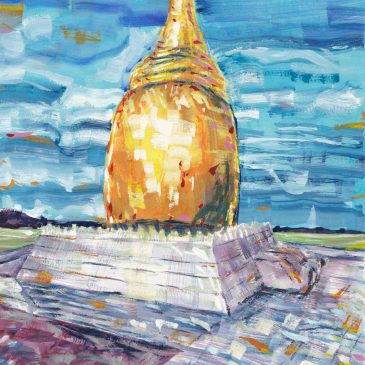 Travel Art: Buphaya Paya, Bagan, Myanmar (Burma)
