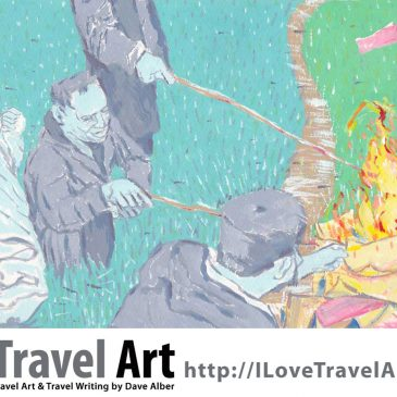 Travel Art: Burning Joss Paper During Ching Ming Festival