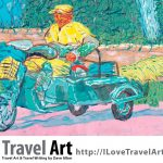 Travel Art, Dave Alber, travel, art, fine art, illustrations, illustrator, travel writer, traveler, tourism art, tourist art, travel painting, portrait painters, portrait painting, travel portrait, art resale, flip, representational, traditional, abstract art, wall art, flower painters, pet painters, garuda, chinese art, street sweeper, chinese street sweeper, suzhou art, suzhou painting, chinese garuda, gouache, chinese painting, gouache