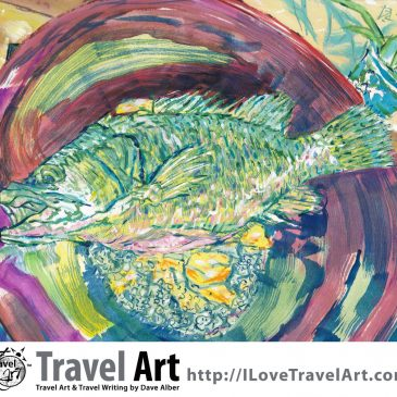Travel Art: Cooking Mandarin Fish (Gue Yu)