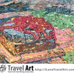 Travel Art, Dave Alber, travel, art, fine art, illustrations, illustrator, travel writer, traveler, tourism art, tourist art, travel painting, portrait painters, portrait painting, travel portrait, art resale, flip, representational, traditional, abstract art, wall art, flower painters, pet painters, nepal temple, nepal ruin, nepal earthquake, nepal devotion, kathmandu temple, kathmandu ruin, kathmandu earthquake, kathmandu devotion, vishnu temple, vishnu temple ruin, marigolds, durbur square, hindu puja, nepal painting, nepal art, kathmandu painting, kathmandu art, nepal travel, nepal tourism, kathmandu travel, kathmandu tourism, durbur square travel, durbur square tourism, oil painting, impasto painting, impasto flowers, flower art