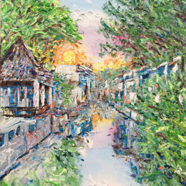 Travel Art: Ancient Canal in Suzhou, China