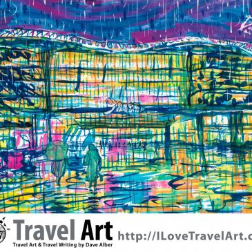 Travel Art: Suzhou Center Mall in the Rain (Suzhou, China)