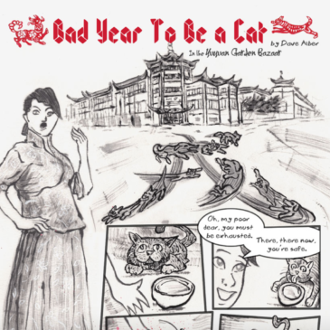 Comic Art: Bad Year To Be a Cat, comic #2, In the Yuyuan Garden Bazaar