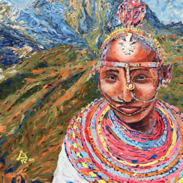 Travel Art: Masai Woman at Mount Kenya