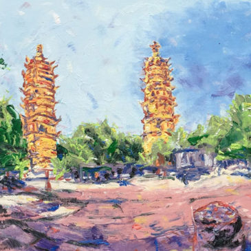 Travel Art: Twin Pagodas 360°